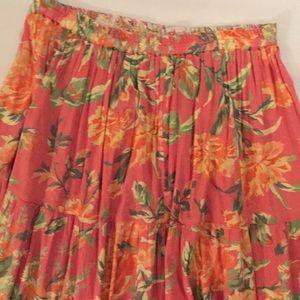 Reversible Cotton Gathered Skirt